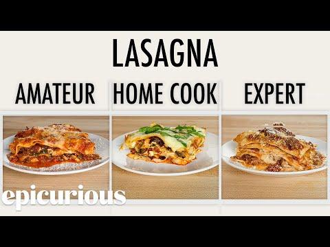 , title : '4 Levels of Lasagna: Amateur to Food Scientist | Epicurious