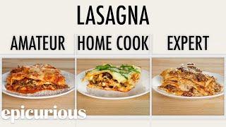 Video 4 Levels of Lasagna: Amateur to Food Scientist | Epicurious MP3, 3GP, MP4, WEBM, AVI, FLV September 2019