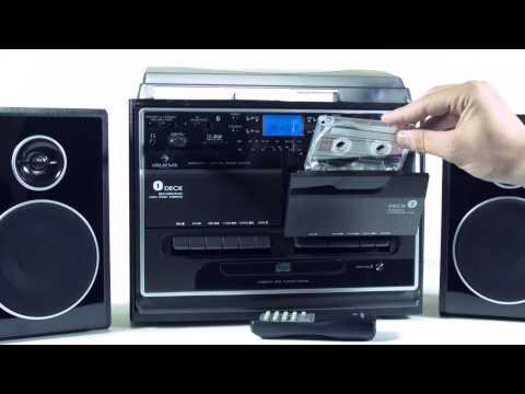 Auna 388-BT Stereoanlage mit Plattenspieler Kassette Bluetooth