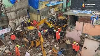 India: Cel puţin 11 morţi în urma prăbuşirii unei clădiri în oraşul Mumbai, afectat de ploi musonice