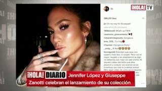 Jennifer López Y Giuseppe Zanotti Presentaron Juntos Su Colección De Calzado   ¡HOLA! Diario