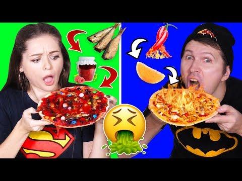 Смешала ШПРОТЫ с ВАРЕНЬЕМ! Самая ужасная пицца в мире! ПИЦЦА ЧЕЛЛЕНДЖ 🐞 Эльфинка