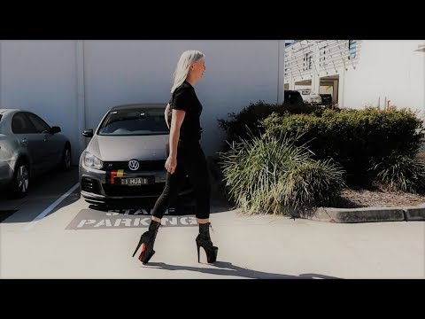 Unbox Walking Upstairs in Pleaser Xtreme-1020TT Black Red Chrome High Heel Ankle Boots