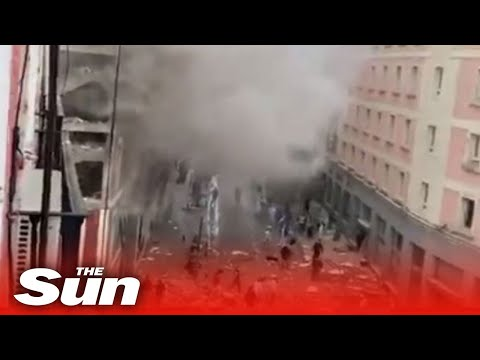 Vier Tote bei Explosion in Madrid