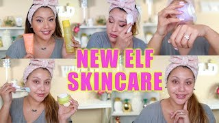NEW ELF SKINCARE! BEST NEW AFFORDABLE DRUGSTORE SKINCARE ROUTINE!