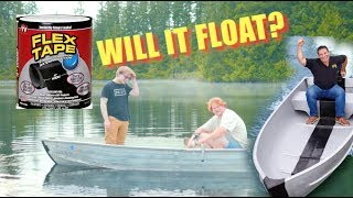ACTUALLY FLEX TAPING A BOAT TOGETHER (WILL IT FLOAT?)
