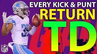 Ranking Every Kick & Punt Return TD of the 2017 Season | NFL Highlights - Video Youtube