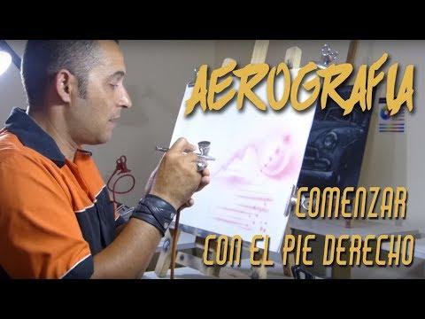 Aerografia, como pintar con aerografo, lo mas importante para comenzar con el pie derecho