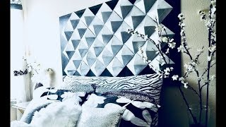 Easy Diy 3D Wall Decor/Headboard For Homes Using Recycled Cereal Boxes!!!