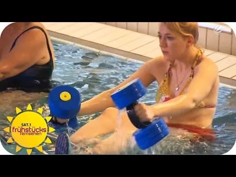 Aqua Cycling Übungen im Test | SAT.1 Frühstücksfernsehen |