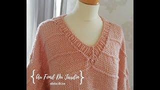 Relever des mailles pour une encolure au tricot