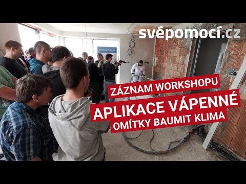 Jak proběhl  workshop strojní aplikace vnitřní vápenné omítky