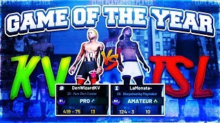 NBA2K19-DenWizard VS LaMonsta! GAME OF THE YEAR! INTENSE COMP MY PARK GAMEPLAY