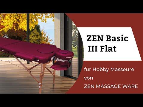 Mobile Massageliege - klappbar Basic III Flat von ZenMassageWare