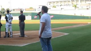 Mark Dorsett Sings National Anthem at Jacksonville Suns Game