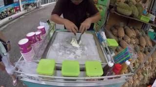 Таиланд. Как готовят жареное мороженое Fried ice cream
