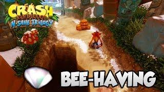 "Crash Bandicoot 2 - ""Bee-Having"" 100% Purple Gem and Clear Gem (PS4 N Sane Trilogy)"