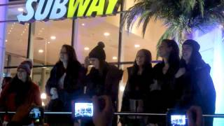 "Cimorelli singing ""I Got You"" at Subway in Germany"