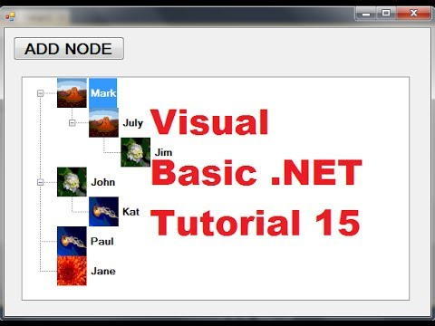 Visual Basic .NET Tutorial 15 – How to use TreeView Control in Visual Basic (VB.NET)