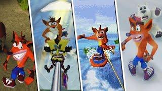 Evolution Of Crash Riding Something | Crash Bandicoot Games