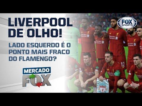 Liverpool de olho! Lado esquerdo é o ponto mais fraco do Flamengo?