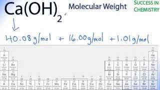 Molar Mass / Molecular Weight Of Ca(OH)2 : Calcium Hydroxide