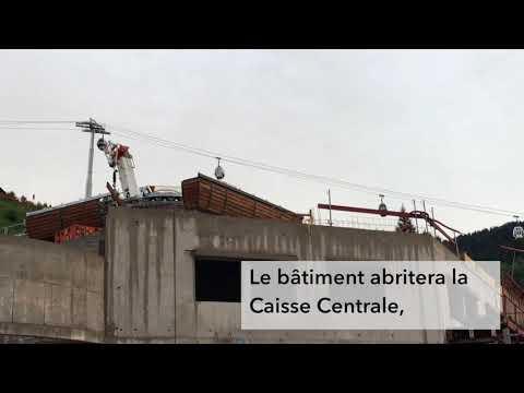 La construction du TSD6 du Crêt du Merle à La Clusaz au 09 septembre