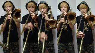もののけ姫アシタカせっ記 トロンボーン5重奏で演奏してみた