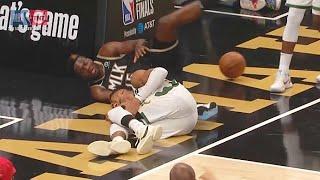 Giannis Almost Breaks His Leg On Scary Injury! Bucks vs Hawks Game 4