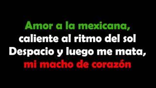 Amor a la Mexicana - Thalía (Letra)