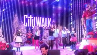 Cimorelli performs Believe It at Universal CityWalk 12/16/12