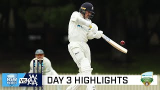 Vics chip away at NSW lead on rain-affected day | Marsh Sheffield Shield 2020-21