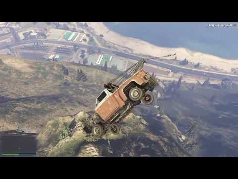 Grand Theft Auto V - Driving Crap Cars Off Mt Chiliad (GTA 5)