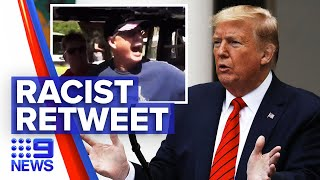 Trump under fire for reposting racial video | 9 News Australia