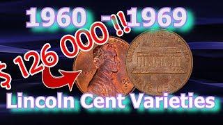 Top 10 1960's Lincoln Penny Varieties Worth Money