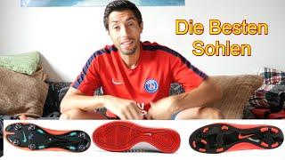Fußball /Richtige/Beste Schuh/Sohle für welchen Boden /Halle, Trocken, Nass /Tipps, Erklärung