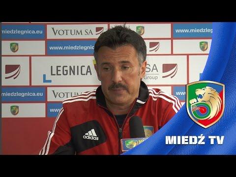 Wojciech Stawowy przed meczem Miedź Legnica - Stomil Olsztyn