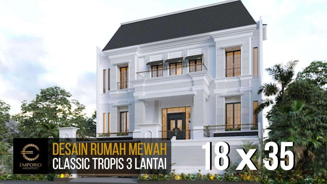 Video 3D Mr. Ahok Classic House 3 Floors Design - Jakarta