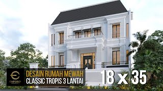Video Mr. Ahok Classic House 3 Floors Design - Jakarta
