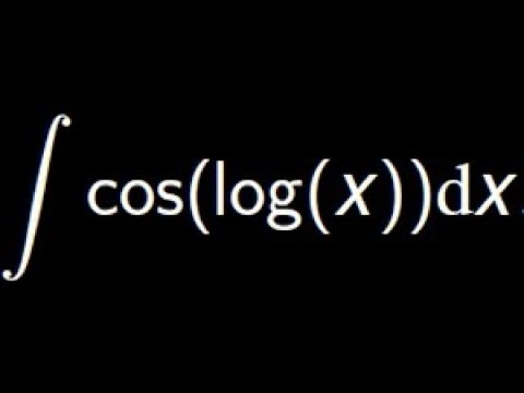 Compute the integral of cos(log(x)) using the Integration by parts and the substitution methods