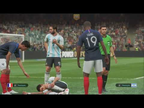 Gameplay JVL sur PES 2019 (France-Argentine PvP) de Pro Evolution Soccer 2019