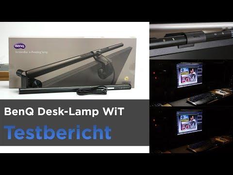 BenQ ScreenBar WiT - Lampe am PC-Monitor - LED-Schreibtischlampe - Sauberer Schreibtisch