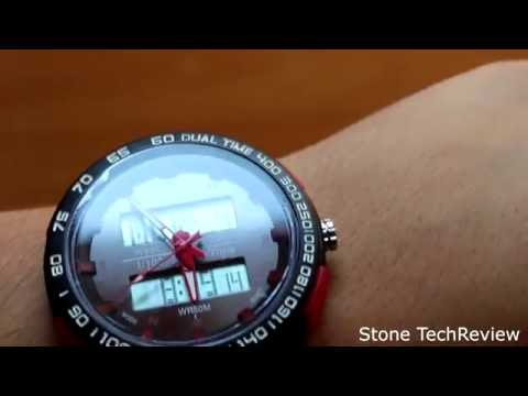 Unboxing SunJas Armbanduhr LED Digitaluhr Sportuhr Herren Watch Uhr Silikon 50m Wasserdicht DE