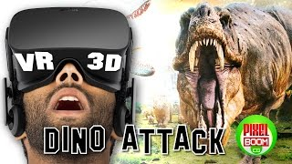 DINOSAURS ATTACK - VR Google Cardboard 3D SBS 1080p Virtual Reality