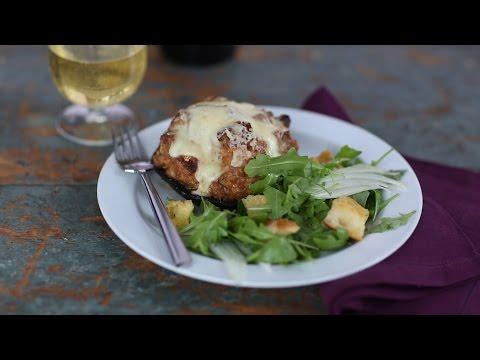 Stuffed Portobello Caps with Fontina and Turkey Sausage- Everyday Food with Sarah Carey