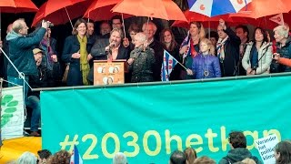 Nationale Energiecommissie op de Climate March