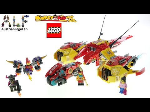 Vidéo LEGO Monkie Kid 80008 : L'avion de Monkie Kid