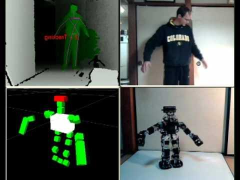 Kinect Gives Life To This Humanoid Robot
