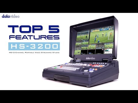 HS 3200 HD 12 Channel HD Portable Video Streaming Studio