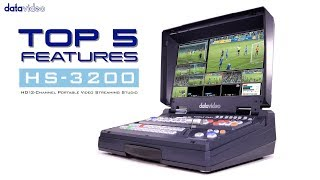 【Official】Top 5 Features of HS-3200 HD 12-Channel HD Portable Video Streaming Studio